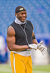 14 December 2014: Green Bay Packers safety Chris Banjo warms up prior to facing the Buffalo Bills at Ralph Wilson Stadium in Orchard Park, NY. The Bills defeated the Packers 21-13, keeping their 2014 playoff hopes alive. Mandatory Credit: Ed Wolfstein Photo *** RAW (NEF) Image File Available ***