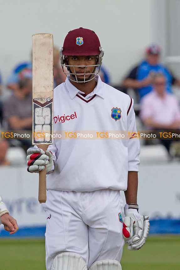 Kieran Powell, West Indies acknowledges his fifty - West Indies vs England Lions - International Cricket Match at The County Ground, Northamptonshire CCC - 12/05/12 - MANDATORY CREDIT: Ray Lawrence/TGSPHOTO - Self billing applies where appropriate - 0845 094 6026 - contact@tgsphoto.co.uk - NO UNPAID USE.