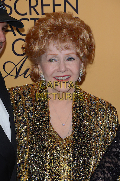 25 January 2015 - Los Angeles, California - Debbie Reynolds.<br /> 21st Annual SAG Awards Press Room held at the Los Angeles Shrine Exposition Center. <br /> CAP/ADM/BT<br /> &copy;BT/ADM/Capital Pictures