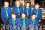 SCOUTS: Members of the new Scout Group in Milltown being invested on Sunday, including front l-r: Ultan Heffernan, Clodagh McKenna, Keith O'Connor. Back l-r: Shane Moriarty, Sinead Vanbladel, Mark Murphy, James O'Connor.