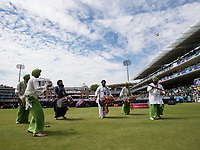 Entertainment on the hot spot during the first hydration break during Pakistan vs Bangladesh, ICC World Cup Cricket at Lord's Cricket Ground on 5th July 2019
