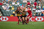 Wales vs Belgium during the HSBC Sevens Wold Series Bowl Quarter Finals match as part of the Cathay Pacific / HSBC Hong Kong Sevens at the Hong Kong Stadium on 29 March 2015 in Hong Kong, China. Photo by Xaume Olleros / Power Sport Images