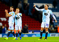 Blackburn Rovers' Elliott Bennett celebrates after the final whistle<br /> <br /> Photographer Alex Dodd/CameraSport<br /> <br /> The EFL Sky Bet Championship - Blackburn Rovers v Queens Park Rangers - Saturday 3rd November 2018 - Ewood Park - Blackburn<br /> <br /> World Copyright © 2018 CameraSport. All rights reserved. 43 Linden Ave. Countesthorpe. Leicester. England. LE8 5PG - Tel: +44 (0) 116 277 4147 - admin@camerasport.com - www.camerasport.com