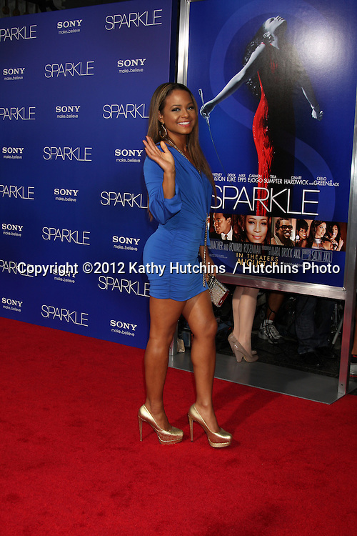 "Los Angeles - AUG 16:  Christina Milian arrives at the ""Sparkle""  Premiere at Graumans Chinese Theater on August 16, 2012 in Los Angeles, CA"