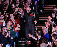 Stuart Bingham shakes hands with the fans before the Dafabet Masters Q/F 4 match between John Higgins and Stuart Bingham at Alexandra Palace, London, England on 15 January 2016. Photo by Liam Smith / PRiME Media Images