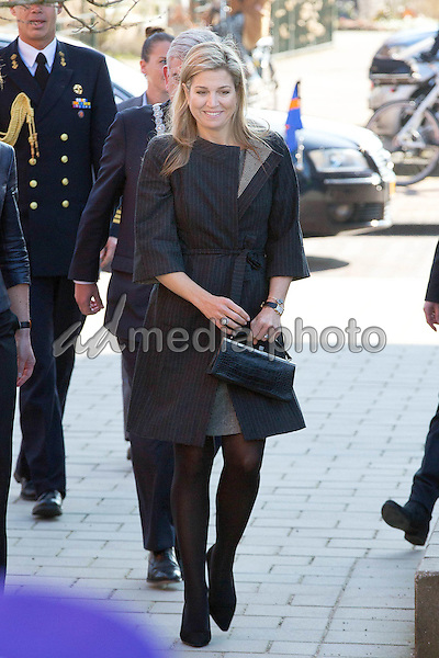 14 March 2016 - Netherlands - Queen Maxima at the start of the 6th edition of the Money Week at the Twaalfruiter school in Vleuten. Photo Credit: PPE/face to face/AdMedia