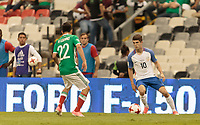 Mexico City, Mexico - Sunday June 11, 2017: Christian Pulisic during a 2018 FIFA World Cup Qualifying Final Round match with both men's national teams of the United States (USA) and Mexico (MEX) playing to a 1-1 draw at Azteca Stadium.