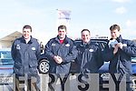 SOLD: The Kingdom Auto Point sales team who sold an Audi on Saturday sticking the sold signs on the car at the Kerry Home and Garden Show on the Dan Spring Road, Tralee
