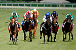 August 10, 2019 : Sistercharlie (left), ridden by John Velasquez, wins the Beverly D. Stakes during Arlington Million Day at Arlington International Racecourse in Arlington Heights, Illinois. Jon Durr/Eclipse Sportswire/CSM