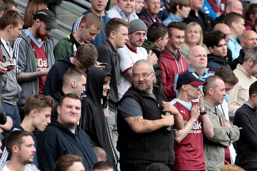 Burnley fans during the game<br /> <br /> Photographer David Shipman/CameraSport<br /> <br /> Football - The Football League Sky Bet Championship - Burnley v Reading - Saturday 26th September 2015 - Turf Moor - Burnley<br /> <br /> &copy; CameraSport - 43 Linden Ave. Countesthorpe. Leicester. England. LE8 5PG - Tel: +44 (0) 116 277 4147 - admin@camerasport.com - www.camerasport.com