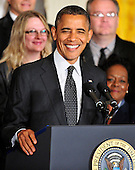 "United States President Barack Obama makes a statement in the East Room of the White House in Washington, D.C. about the action he believes is needed to avoid the ""fiscal cliff"" of automatic tax increases and spending cuts due to take effect in January, 2013..Credit: Ron Sachs / CNP"