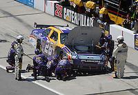 May 6, 2007; Richmond, VA, USA; Nascar Nextel Cup Series driver Jamie McMurray (26) on pit road during the Jim Stewart 400 at Richmond International Raceway. Mandatory Credit: Mark J. Rebilas