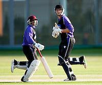 25 JUN 2009 - LOUGHBOROUGH,GBR - Harveer Singh Gandam and Liam Lewis (both Loughborough UCCE) add runs in the match against Cambridge UCCE - UCCE Twenty 20 (PHOTO (C) NIGEL FARROW)