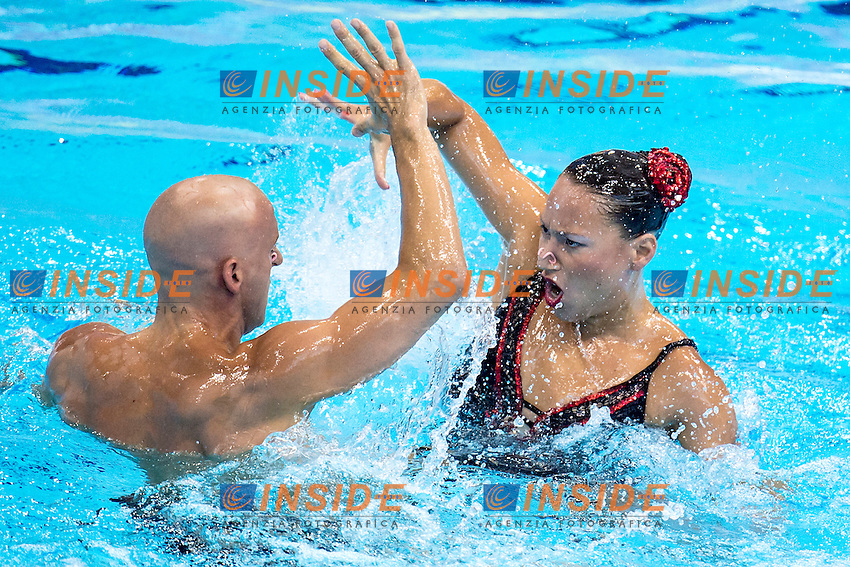 Chloe KAUTZMANN Benoit BEAUFILS FRA France <br /> Mixed Duet Free Final <br /> London, Queen Elizabeth II Olympic Park Pool <br /> LEN 2016 European Aquatics Elite Championships <br /> Synchronized Swimming <br /> Day 03 11-05-2016<br /> Photo Andrea Staccioli/Deepbluemedia/Insidefoto