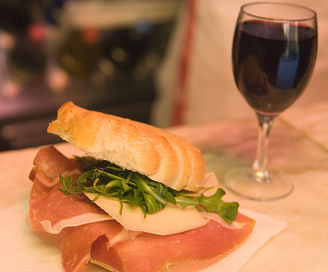 Sandwich, All'Antico Restaurant, Florence, Tuscany, Italy