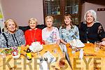 Bernie Fitzgerald (Tralee), Kathleen Granville (Castleisland), Ann Cotter (Knocknagoshel), Michelle Walsh (Ballymac) and Carmel Prenderville (Castleisland) attending the O'Riada's Dinner & Intimate Gig with Sharon Shannon on Friday evening.