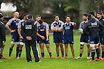 Ash Dixon talks. Maori All Blacks Tour of Fiji. Training at Kings College, Otahuhu, Auckland. July 7 2015. Photo: Marc Weakley