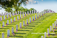 65095-02805 Gravestones at Jefferson Barracks National Cemetery St. Louis, MO