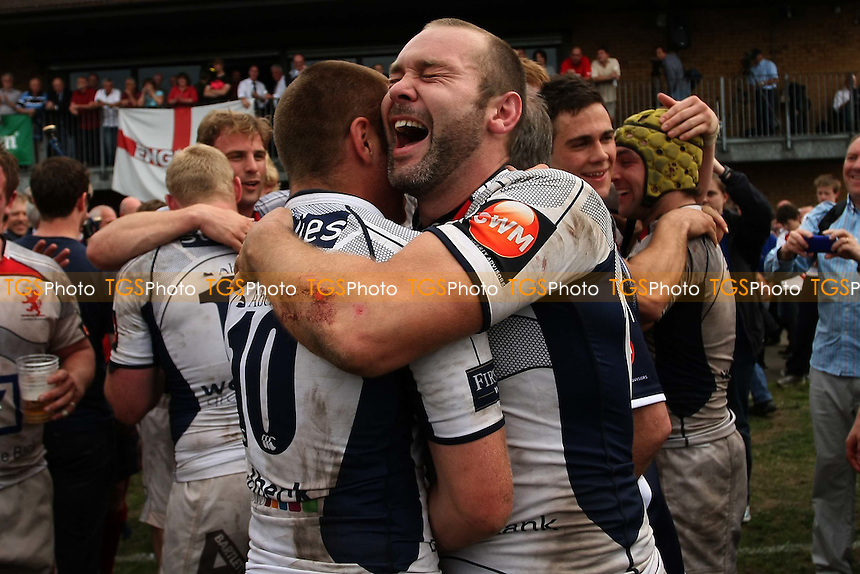 Celebrations as London Scottish win - Barking RFC vs London Scottish RFC - National League One Rugby at Gale Street - 07/05/11 - MANDATORY CREDIT: George Phillipou/TGSPHOTO - Self billing applies where appropriate - 0845 094 6026 - contact@tgsphoto.co.uk - NO UNPAID USE.