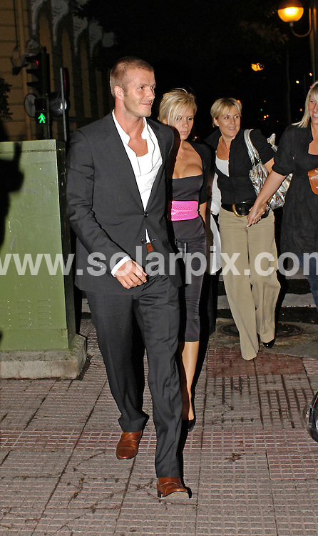 "**ALL ROUND EXCLUSIVE PICTURES FROM SOLARPIX.COM**.**WORLDWIDE SYNDICATION RIGHTS EXCLUDING SPAIN - NO PUBLICATION IN SPAIN**.David & Victoria Beckham celebrated last night with close pals Tom Cruise & katie Holmes together with Davids real madrid team mates after winning the Spanish ""Copa de Leaga"" at the Beanabau Stadium..David received the champions cup first and did the customary tour on the bus through Madrid and then joined victoria and Tom at ""El Xistu"" restaurant for dinner.They went on to The ""Shabay"" night club where they all partied till 7am leaving looking a bit worse for wear. .JOB REF: 4086         BKG       DATE: 18.6.07.**MUST CREDIT SOLARPIX.COM OR DOUBLE FEE WILL BE CHARGED* *UNDER NO CIRCUMSTANCES IS THIS IMAGE TO BE REPRODUCED FOR ANY ONLINE EDITION WITHOUT PRIOR PERMISSION*"