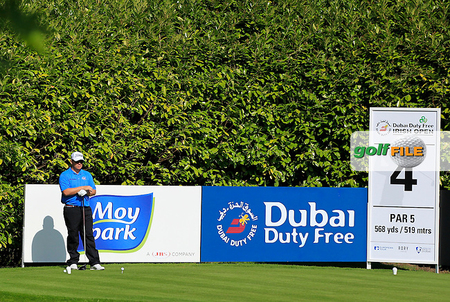 George Coetzee (RSA) on the 4th tee during Tuesday's Practice round of the Dubai Duty Free Irish Open Trophy at The K Club, Straffan, Co. Kildare<br /> Picture: Golffile | Thos Caffrey<br /> <br /> All photo usage must carry mandatory copyright credit <br /> (&copy; Golffile | Thos Caffrey)