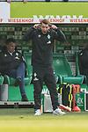 13.04.2019, Weserstadion, Bremen, GER, 1.FBL, Werder Bremen vs SC Freiburg<br /> <br /> DFL REGULATIONS PROHIBIT ANY USE OF PHOTOGRAPHS AS IMAGE SEQUENCES AND/OR QUASI-VIDEO.<br /> <br /> im Bild / picture shows<br /> Jubel 2:0, Florian Kohfeldt (Trainer SV Werder Bremen) mit Anweisungen in Coachingzone / an Seitenlinie, <br /> <br /> Foto &copy; nordphoto / Ewert