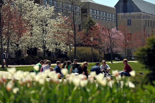 April 2009 class outside on DeBartolo Quad..Photo by Matt Cashore/University of Notre Dame