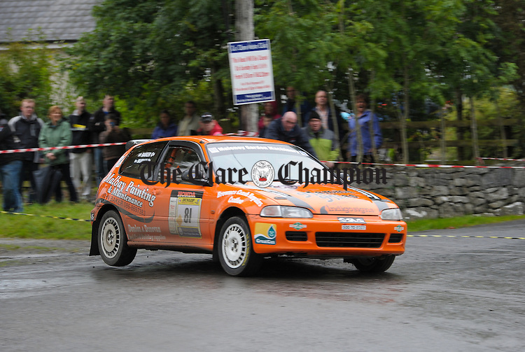 Newmarket on Fergus's Joe Baker and Eric Murray in action during Stage 3 of the Clare Stages Rally at Ruan. Photograph by John Kelly.