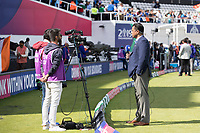 War Younis presenting for the broadcasters ahead of  India vs Australia, ICC World Cup Cricket at The Oval on 9th June 2019