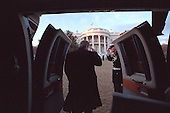 United States President George W. Bush arrives at the White House in Washington, D.C. on Sunday, February 4, 2001 aboard Marine One. .Mandatory Credit: Eric Draper - White House via CNP