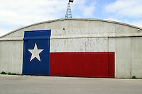 Texas Lone Star Flag on Airport Hanger in Austin, Texas, USA No. 4