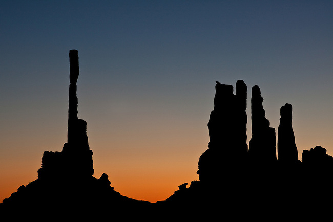 Totem Poles at Sunrise