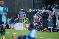 Wycombe Wanderers Manager Gareth Ainsworth calls a decision during the Sky Bet League 2 match between Wycombe Wanderers and Yeovil Town at Adams Park, High Wycombe, England on 14 January 2017. Photo by Andy Rowland / PRiME Media Images.