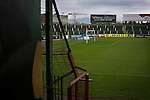 Glentoran 2 Cliftonville 1, 22/10/2016. The Oval, NIFL Premiership. A view across the ground towards the away end at The Oval, Belfast, pictured before Glentoran hosted city-rivals Cliftonville in an NIFL Premiership match. Glentoran, formed in 1892, have been based at The Oval since their formation and are historically one of Northern Ireland's 'big two' football clubs. They had an unprecendentally bad start to the 2016-17 league campaign, but came from behind to win this fixture 2-1, watched by a crowd of 1872. Photo by Colin McPherson.