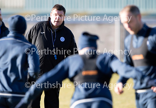 St Johnstone Training&hellip;.09.02.18<br />Manager Tommy Wright pictured during training this morning at McDiarmid Park ahead of tomorrow&rsquo;s Scottish Cup tie at Hearts<br />Picture by Graeme Hart.<br />Copyright Perthshire Picture Agency<br />Tel: 01738 623350  Mobile: 07990 594431