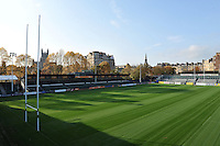 A general view of the Recreation Ground pitch. Bath Rugby Photocall on October 30, 2014 at the Recreation Ground in Bath, England. Photo by: Patrick Khachfe / Onside Images