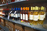 Cuvee du Soleil, Muscat de Rivesaltes. Domaine Pietri-Geraud Roussillon. The wine shop and tasting room. France. Europe. Bottle.
