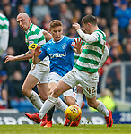 11.3.2018 Rangers v Celtic:<br /> greg Docherty with Scott Brown and Callum McGregor