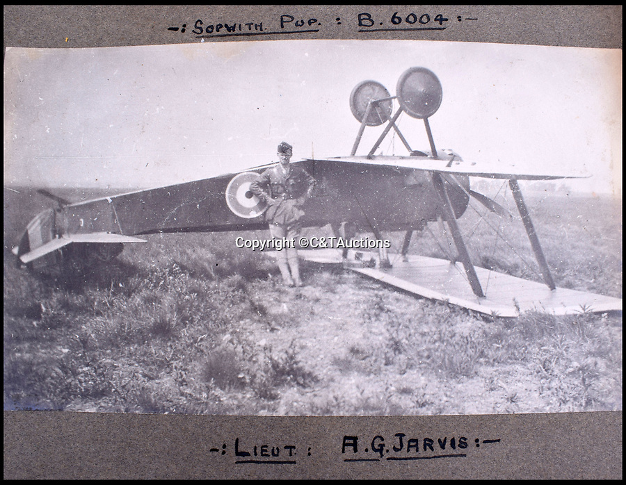BNPS.co.uk (01202 558833)<br /> Pic: C&TAuctions/BNPS<br /> <br /> A Lt Jarvis survived this landing in his Sopwith Pup.<br /> <br /> A fascinating photo album which documents the adventures of a captain in the fledgling Royal Naval Air Service has been unearthed after 100 years.<br /> <br /> The photos were compiled by Captain Denis Carey who was based in Maidstone, Kent, and they provide a fascinating insight into the air arm of the Royal Navy during the First World War.<br /> <br /> They show the thrills and spills of the pioneering early days of aviation in a world before health and safety had been invented.