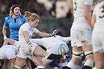 13th february 2016 - Ivrea - ITALY: Ladies England rugby team wins the match against Italy for 2016 Six nations ladies team with the score 24 - 33.