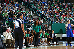 DENTON, TX - DECEMBER 5: University of North Texas Mean Green Women's Basketball v Houston Huskies at Super Pit - North Texas Coliseum  in Denton on December 5, 2018 in Denton, Texas. Photo Rick Yeatts