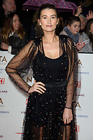 LONDON, UK. January 22, 2019: Charley Webb at the National TV Awards 2019 at the O2 Arena, London.<br /> Picture: Steve Vas/Featureflash