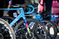 colourfull Movistar steeds<br /> <br /> 14th Strade Bianche 2020<br /> Siena > Siena: 184km (ITALY)<br /> <br /> delayed 2020 (summer!) edition because of the Covid19 pandemic > 1st post-Covid19 World Tour race after all races worldwide were cancelled in march 2020 by the UCI