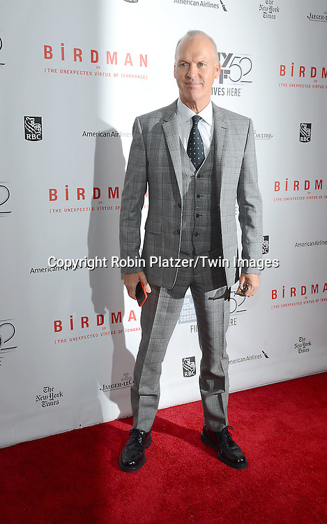 Michael Keaton attends &quot;Birdman or The Unexpected Virtue of Ignorance&quot; screening at The 52nd New York Film Festival on October 11, 2014 at Alice Tully Hall in New York City. <br /> <br /> photo by Robin Platzer/Twin Images<br />  <br /> phone number 212-935-0770