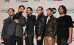 LOS ANGELES, CA - NOVEMBER 18: Joe Hahn, Mike Shinoda, Brad Delson, Chester Bennington, Dave Farrell, and Rob Bourdon of Linkin Park   pose in the press room at the 40th Anniversary American Music Awards held at Nokia Theatre L.A. Live on November 18, 2012 in Los Angeles, California.