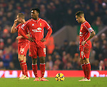 Liverpool look dejected - Liverpool vs. Tottenham Hotspurs - Barclay's Premier League - Anfield - Liverpool - 10/02/2015 Pic Philip Oldham/Sportimage