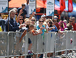Spectators cheer on riders as they finish the Epic Rides Carson City Off-Road in Carson City, Nev., on Saturday, June 18, 2016.<br /> Photo by Cathleen Allison