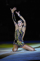 Daria Dmitrieva of Russia performs gala exhibition at 2010 World Cup at Portimao, Portugal on March 14, 2010.  (Photo by Tom Theobald).