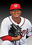 25 February 2011: Washington Nationals' pitcher Atahualpa Severino poses for his Photo Day portrait at Space Coast Stadium in Viera, Florida. Mandatory Credit: Ed Wolfstein Photo