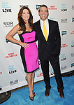 """Lisa Vanderpump and Andy Cohen at the book party hosted by Bravo for """"Most Talkative Stories from the Front Line of Pop Culture"""" held at SUR Lounge in West Hollywood May 14, 2012. © Fitzroy Barrett"""